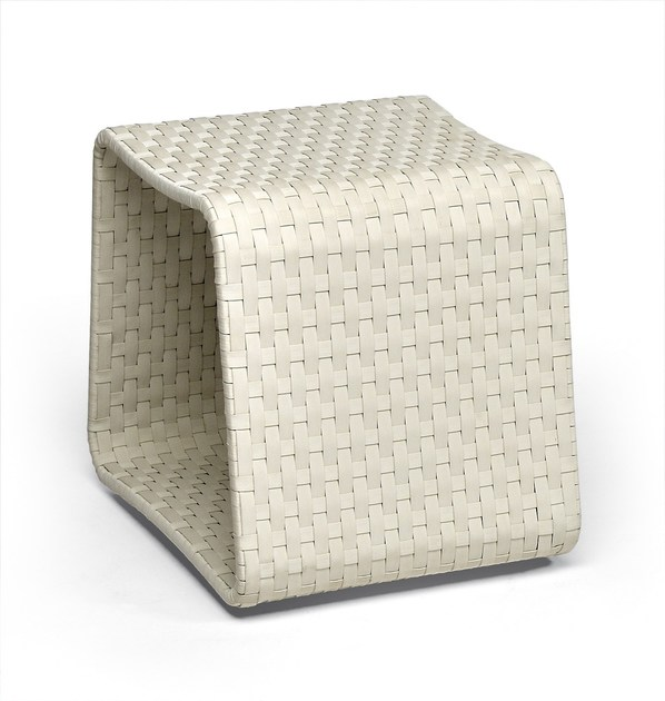 Aluminium garden pouf HAMPTONS | Garden pouf - Roberti Rattan