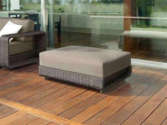 Round aluminium garden footstool HAMPTONS | Garden footstool by Roberti Rattan