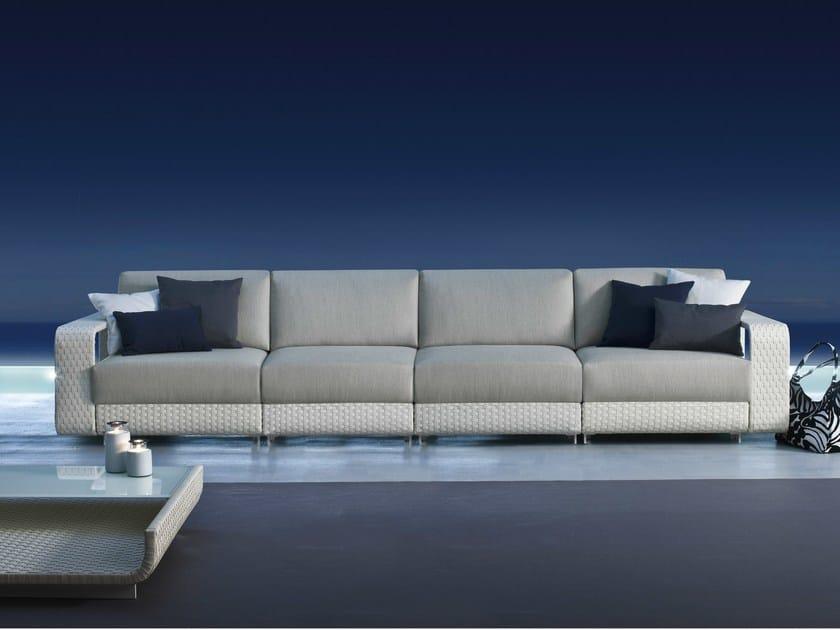 4 seater sectional modular aluminium garden sofa HAMPTONS | 4 seater garden sofa - Roberti Rattan