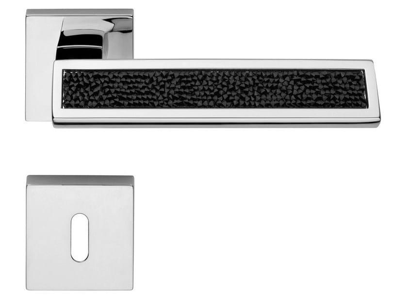 Door handle with Swarovski® Crystals with lock RIFLESSO ROCKS | Door handle - LINEA CALI'