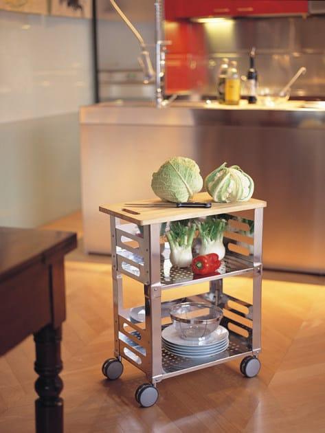 Carrello portavivande in acciaio inox p u b kitchen trolley collezione p u b by graepel high - Carrello portavivande design ...