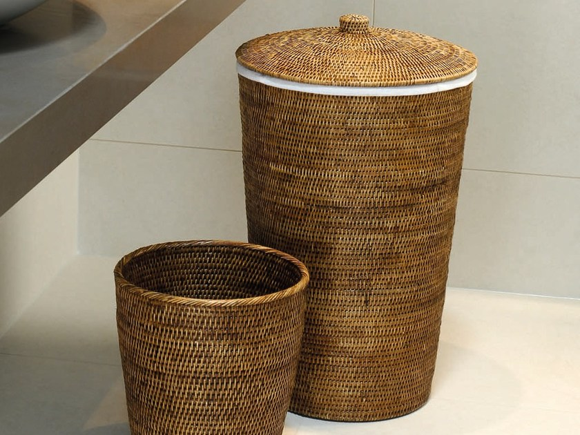 Rattan laundry container BASKET R | Laundry container - DECOR WALTHER