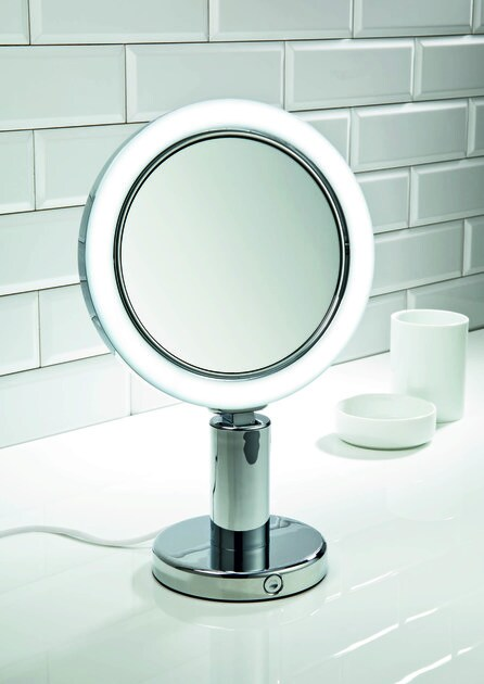 Wall-mounted shaving mirror with integrated lighting BS 12/V - DECOR WALTHER