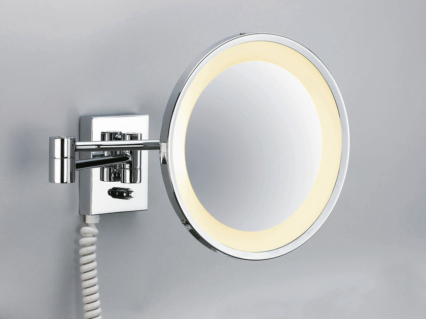 Wall-mounted shaving mirror with integrated lighting BS 45 - DECOR WALTHER