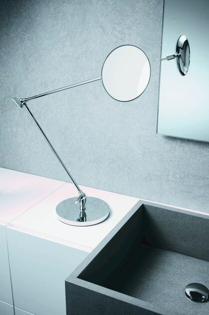 Countertop round shaving mirror SPT 70 by DECOR WALTHER