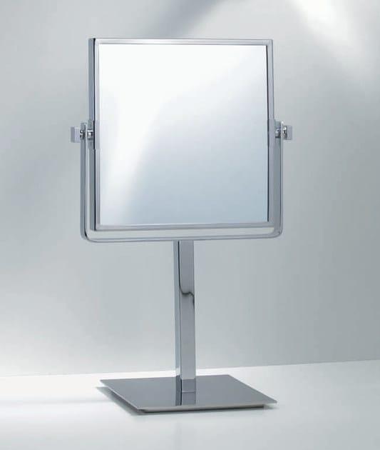 Specchio ingranditore quadrato da appoggio spt 83 by decor walther - Specchio da appoggio ...