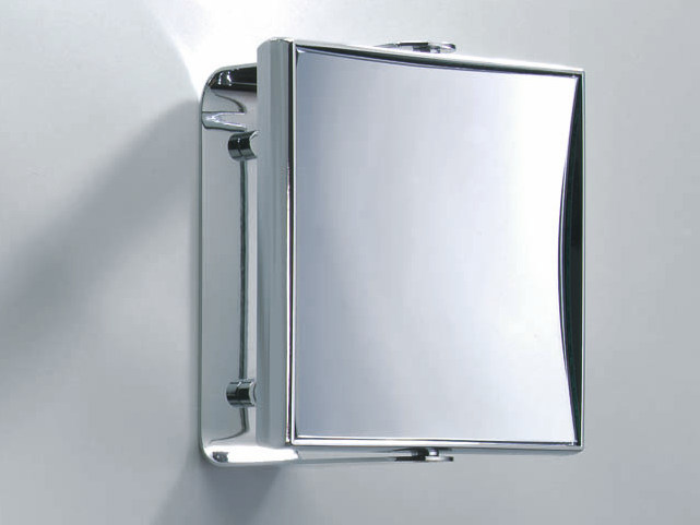 Square wall-mounted shaving mirror SPT 68 by DECOR WALTHER