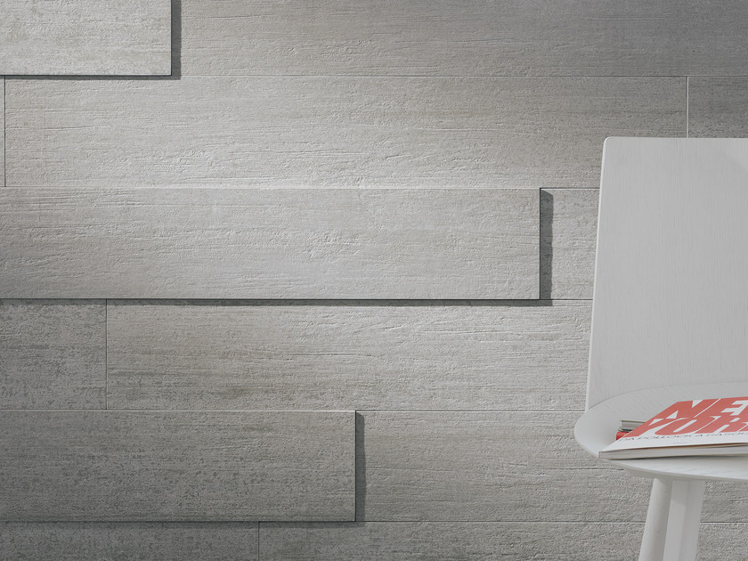 Porcelain stoneware wall tiles with wood effect LEGNOCEMENTO | Wall tiles - Ceramica Fioranese