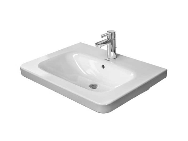Rectangular ceramic washbasin DURASTYLE | Washbasin - DURAVIT