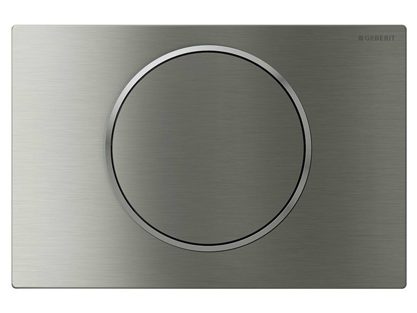 Stainless steel flush plate Sigma10 by Geberit Italia