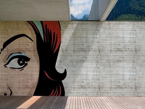 Carta da parati pop art per esterni pop pop pop by wall dec design christian benini - Deco pop art ...