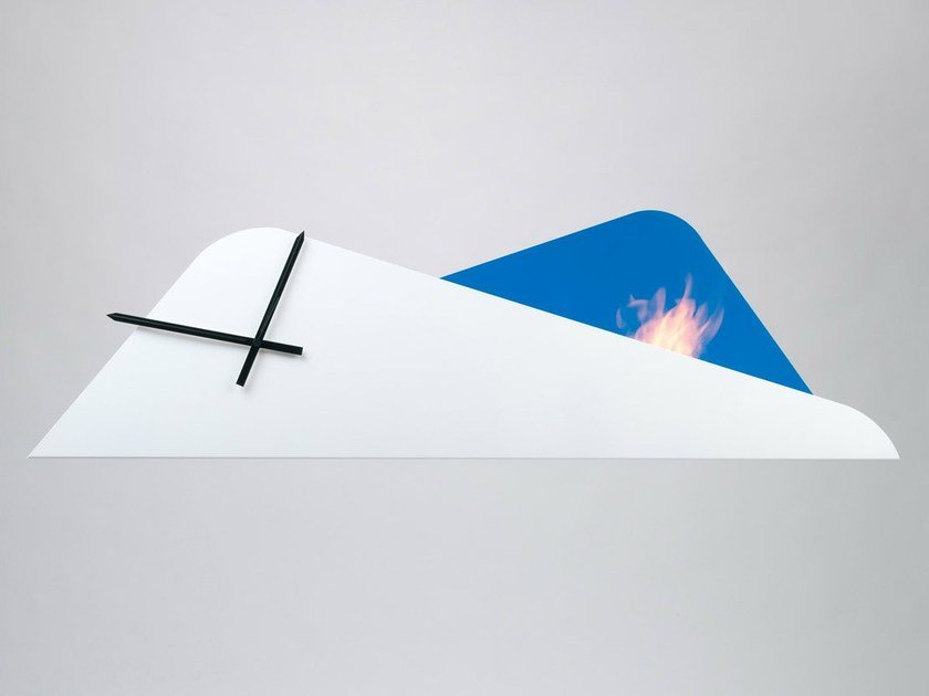 Metal fireplace / clock EUFORIA - Officine del Fuoco by British Fires