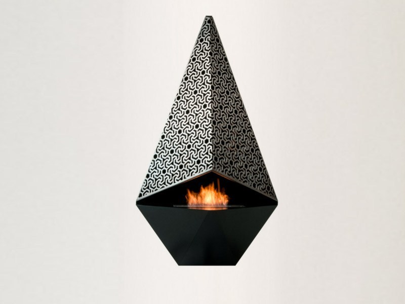 Hanging bioethanol wall-mounted fireplace VESTA - Officine del Fuoco by British Fires