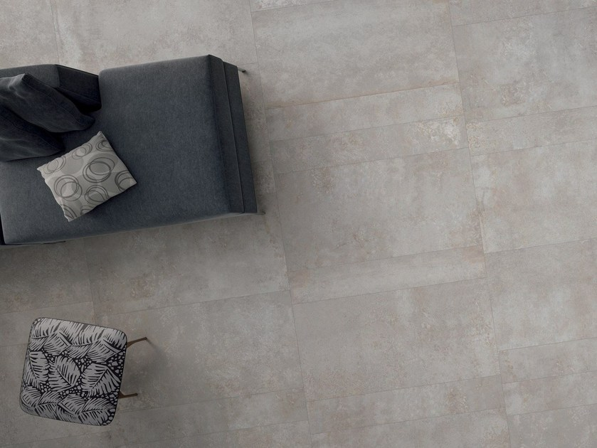 Ecological wall/floor tiles with concrete effect EDGE GREY by CERAMICHE KEOPE