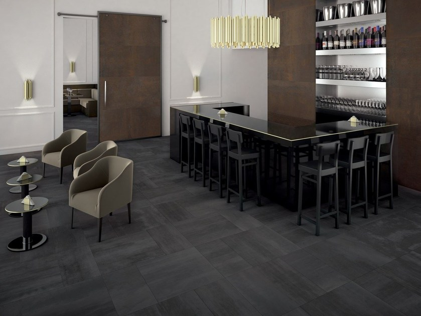 Ecological wall/floor tiles EDGE DARK - CERAMICHE KEOPE