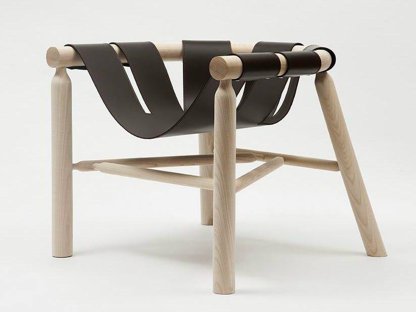 Armchair with leather seat NINNA | Armchair - Adentro