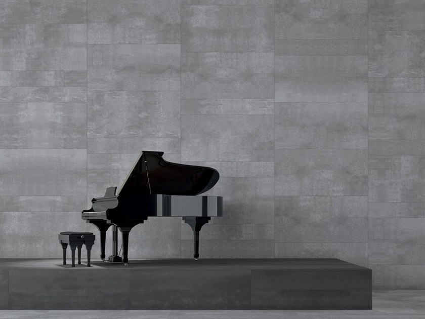 Porcelain stoneware wall tiles / flooring EDGE SILVER by CERAMICHE KEOPE