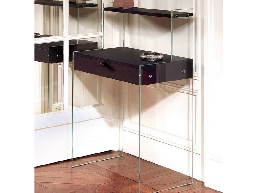Rectangular tempered glass console table BONHEUR DU JOUR - ZEN 9 - Adentro
