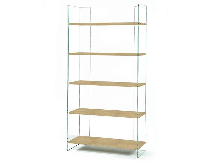 Tempered glass bookcase EX LIBRIS - ZEN 12 - Adentro