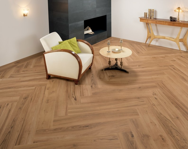 Ecological frost proof wall/floor tiles with wood effect EVOKE BEIGE by CERAMICHE KEOPE