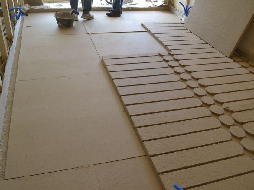 Wood fibre Radiant floor panel KLIMAPAN - NORDTEX
