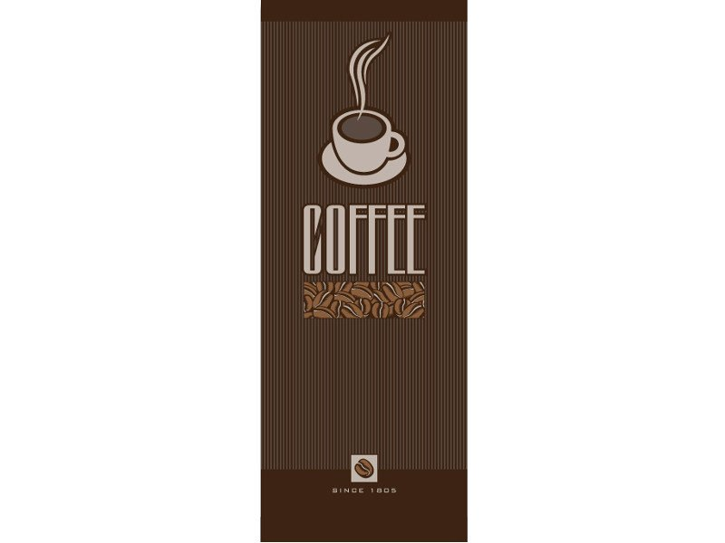 Washable writing nonwoven wallpaper LUVCOFFECUP © - LGD01