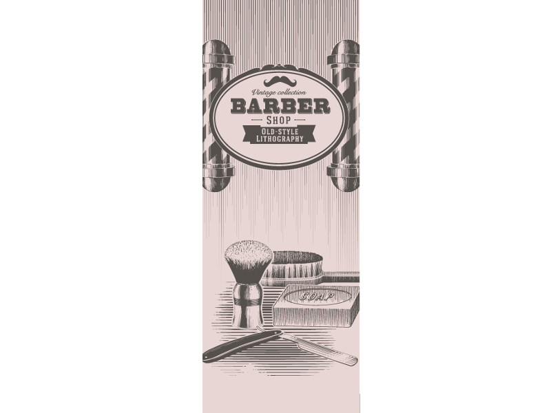 Washable writing nonwoven wallpaper LUVBARBER © by LGD01