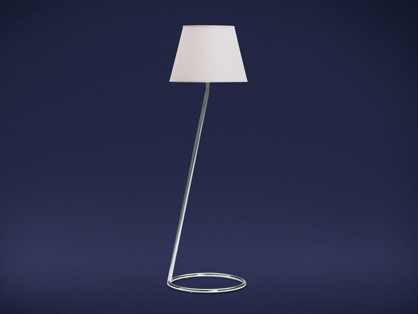 Chrome plated steel floor lamp ANGLE | Floor lamp - Flou