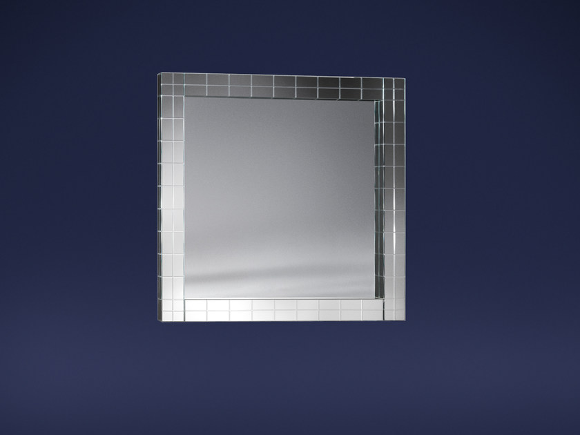 Square wall-mounted mirror CONDOTTI | Mirror - Flou