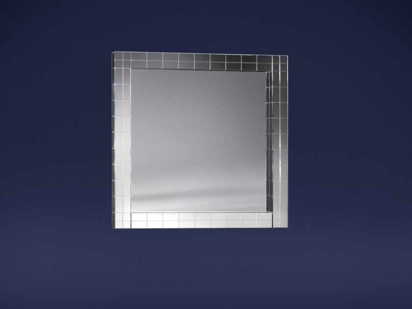 Square wall-mounted mirror CONDOTTI | Mirror by Flou