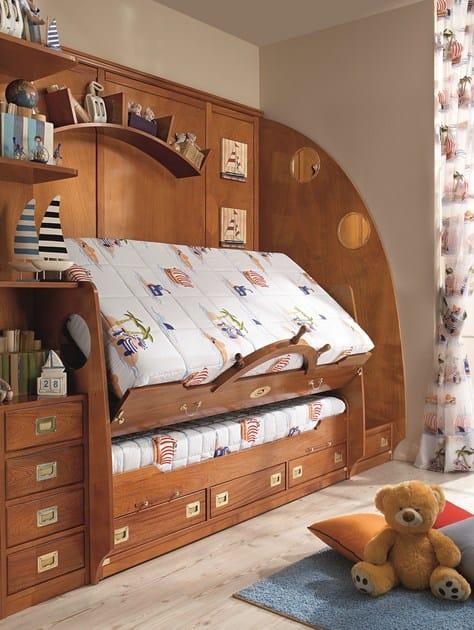 Letto a castello reclinabile con cabina armadio 244 letto con armadio caroti - Letto a castello con armadio ...