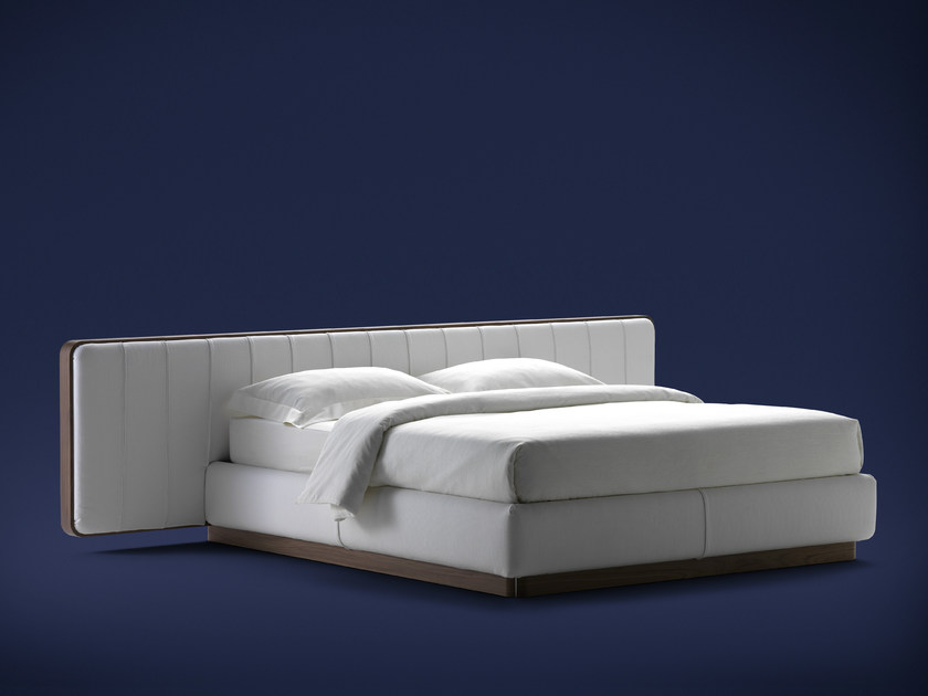 Double bed with upholstered headboard ERMES | Double bed - Flou