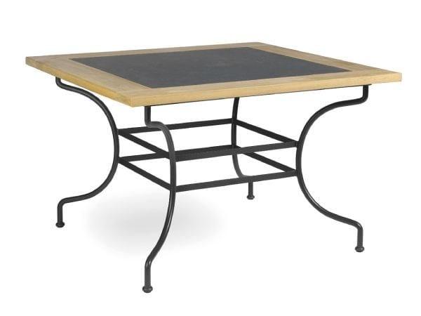 Wrought iron garden table CAPRI | Square garden table - MANUTTI