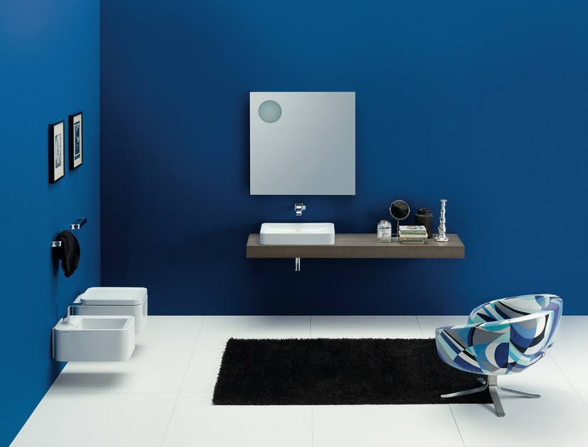 Countertop rectangular ceramic washbasin NILE 62 | Countertop washbasin - CERAMICA FLAMINIA