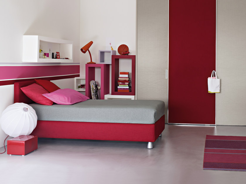 Single bed with removable cover NOTTURNO 2 | Single bed - Flou