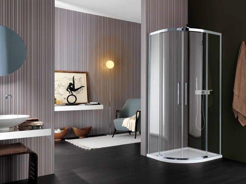 Glass shower cabin VIS | Semicircular shower cabin - Samo