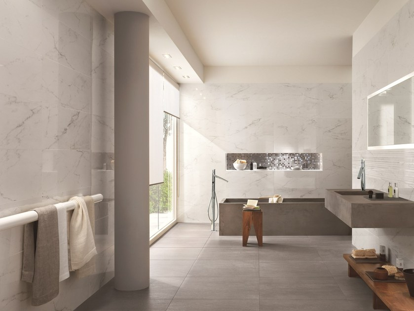 White-paste wall tiles with marble effect DAYLIGHT - Ragno
