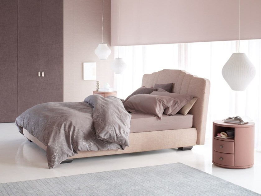 Deco bed with upholstered headboard OPERÀ - Flou