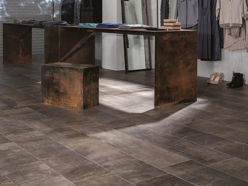 Pavimento in gres porcellanato effetto cemento blend marazzi - Piastrelle antiche cemento ...