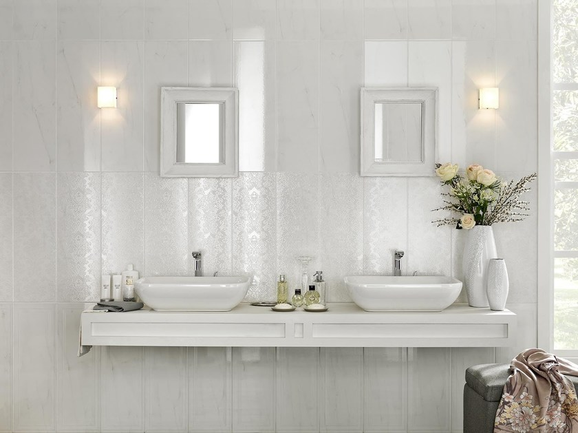 Pavimento rivestimento in gres porcellanato smaltato - Rivestimento bagno effetto marmo ...