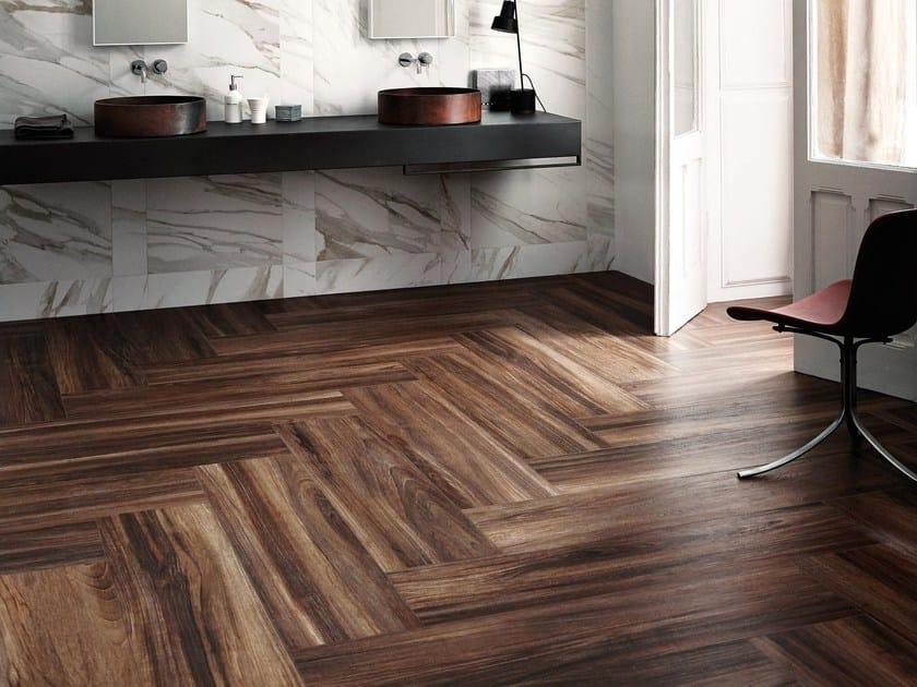Pavimento in gres porcellanato effetto legno treverkchic for Gres effetto teak