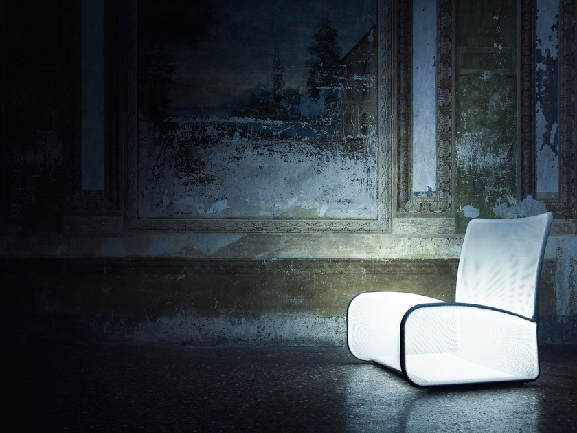 Easy chair with light NUVOLA DI LUCE - Natevo
