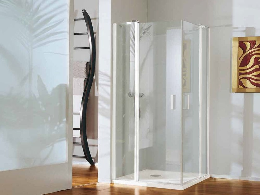 Corner shower cabin with tray POLARIS DELUXE | Corner shower cabin - Samo