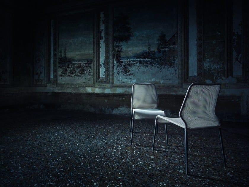 Stackable mesh chair TUBE - Natevo