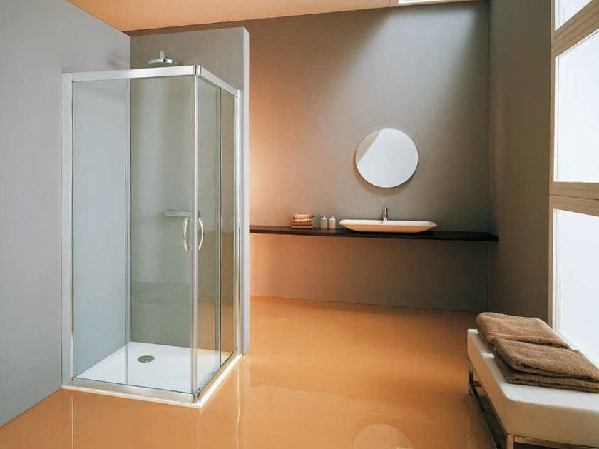 Corner shower cabin with tray NEW CEE | Corner shower cabin - Samo