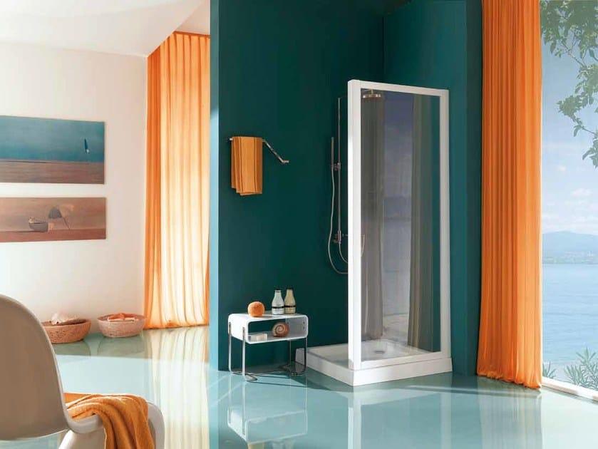 Corner shower cabin with tray AMERICA | Shower cabin by Samo