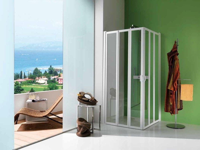 Shower cabin with folding door FLEX | Shower cabin by Samo