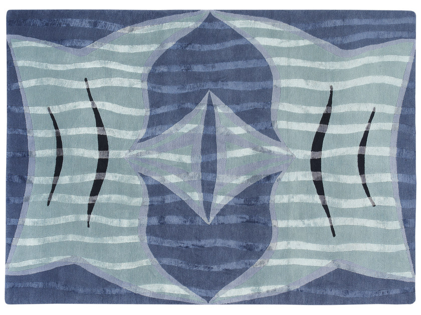 Patterned handmade rug FISH TAILS - Deirdre Dyson