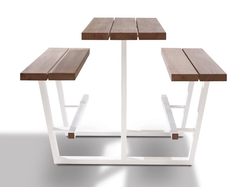 High picnic table with integrated benches BEER TABLE - CASSECROUTE