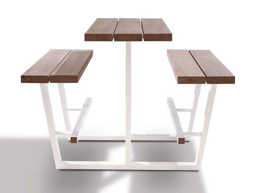 tavolo da picnic alto con panchine integrate beer table - cassecroute - Tavolo Panca Da Giardino